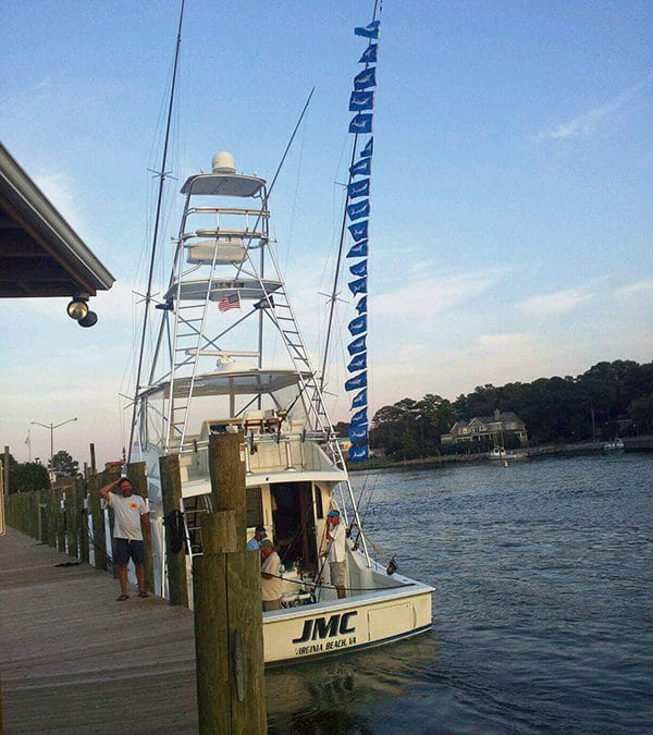 A Hatteras Dominates the White Marlin Scene