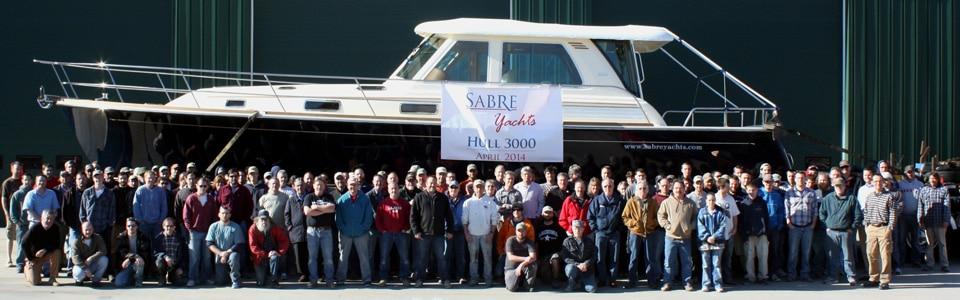 Sabre Yachts Ships 3000th Hull