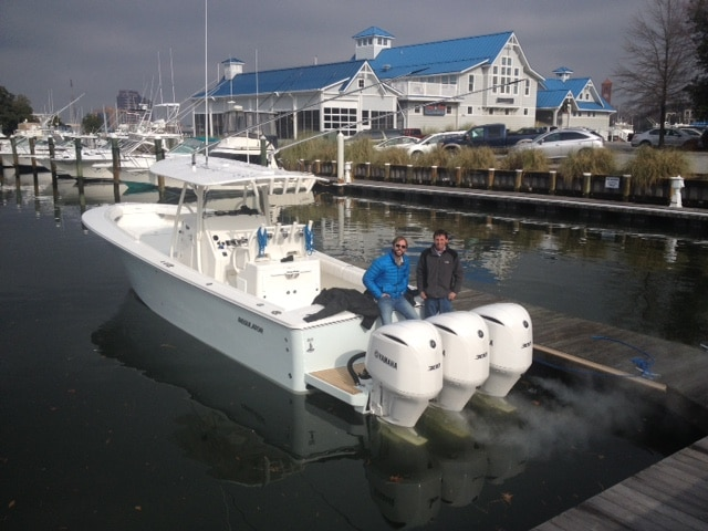 Delivering a Regulator 34 with Triple Yamaha Outboards