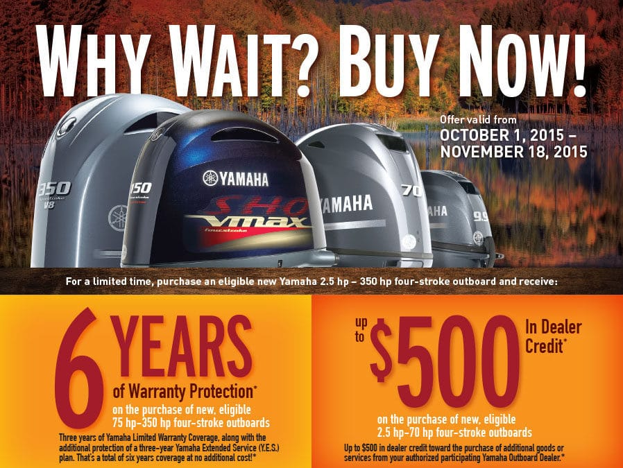 Get on the Water with Double the Yamaha Warranty Coverage