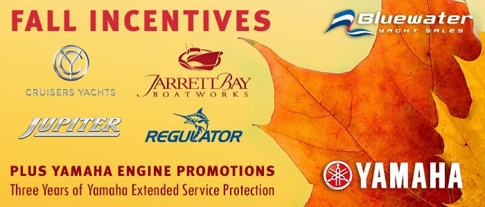 Take Advantage of Great Incentives from Jupiter, Regulator and Cruisers