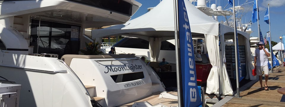 Bluewater Yacht Sales Displaying in Miami