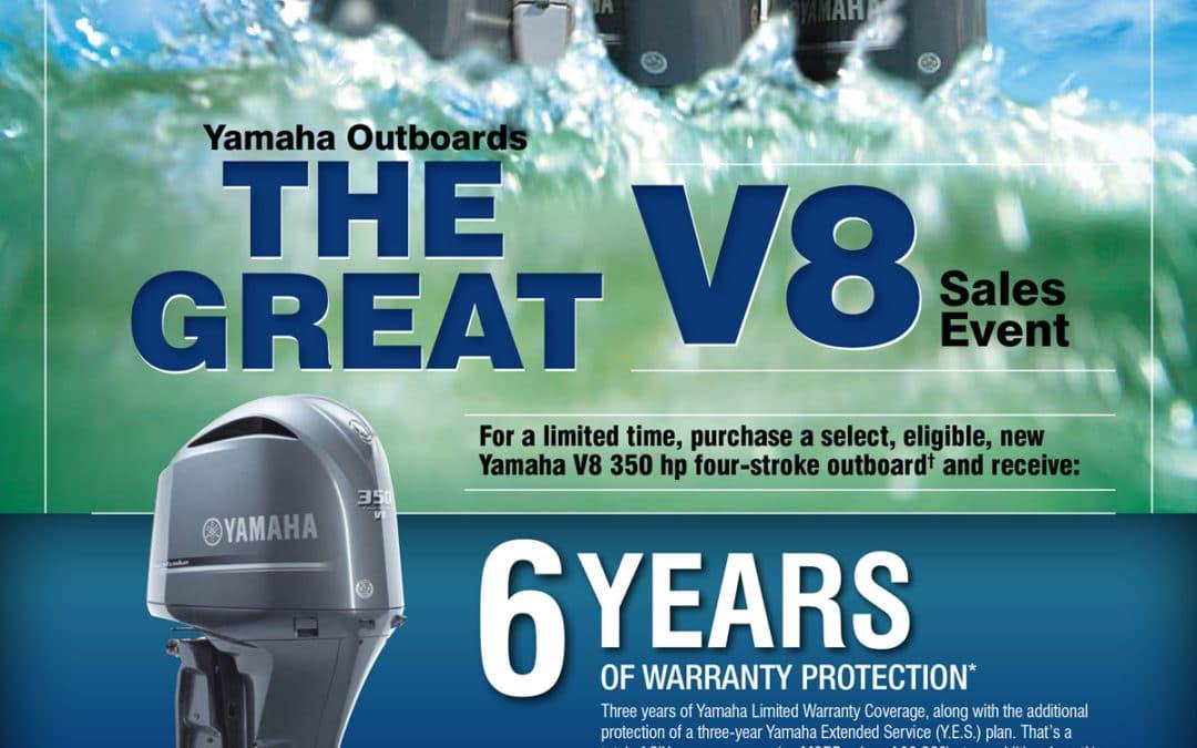 Yamaha Great V8 Warranty Promotion Extended