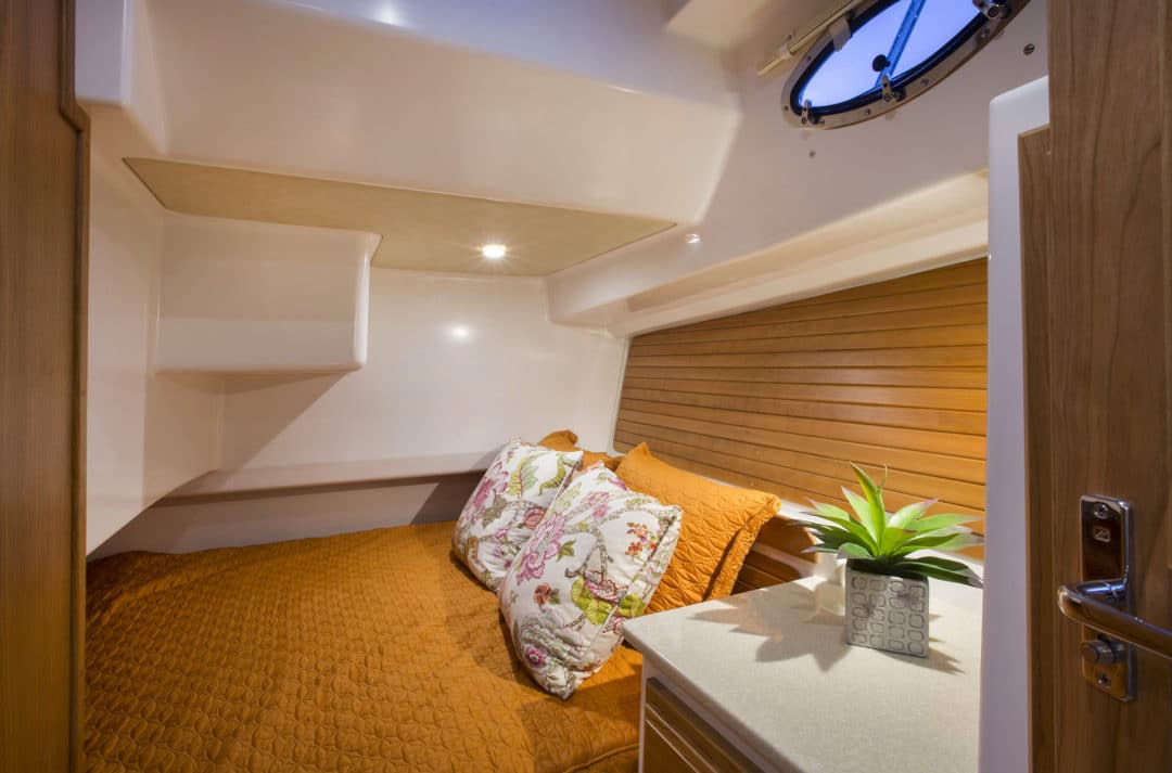 Interiors onboard Back Cove 41 in Jupiter, FL.
