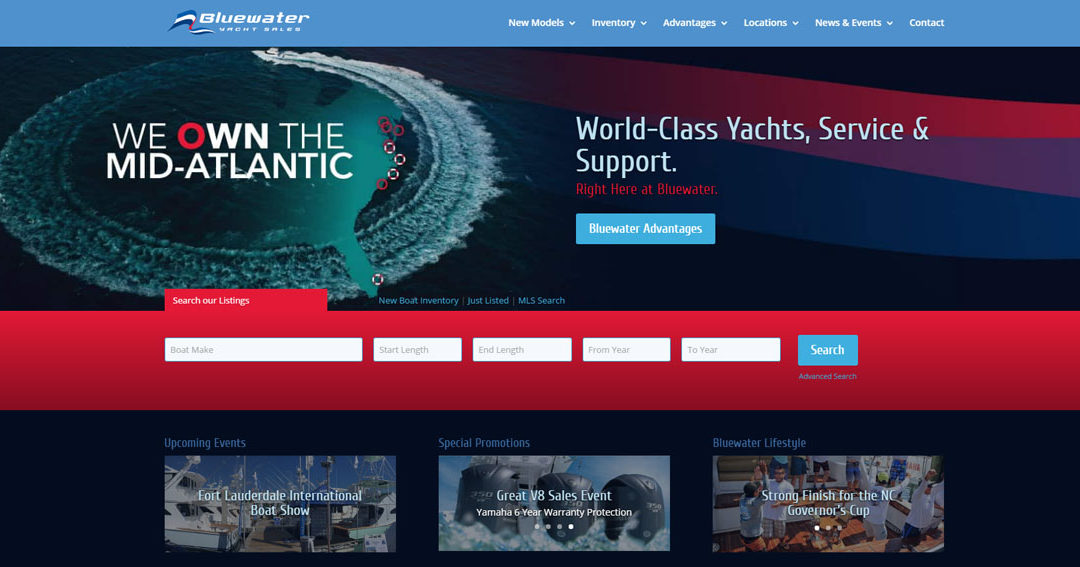 Bluewater Yacht Sales Launches All New Web Presence