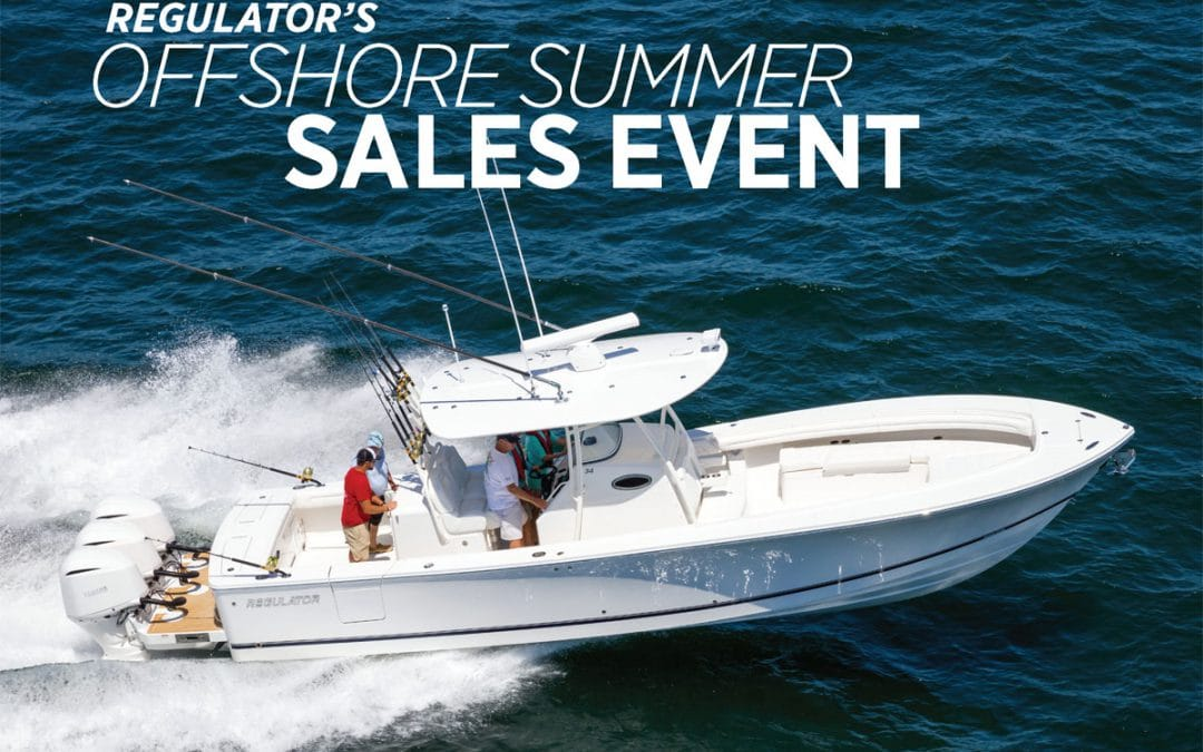 Great Savings with Regulator Marine's Offshore Summer Sales Event