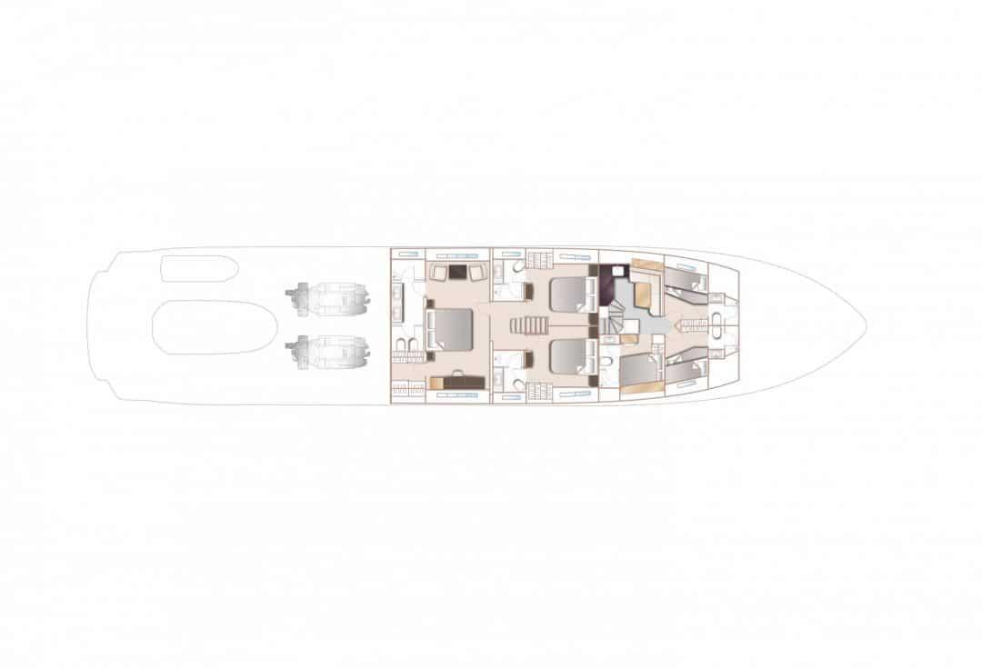 35m-layout-lower-deck-4-cabin