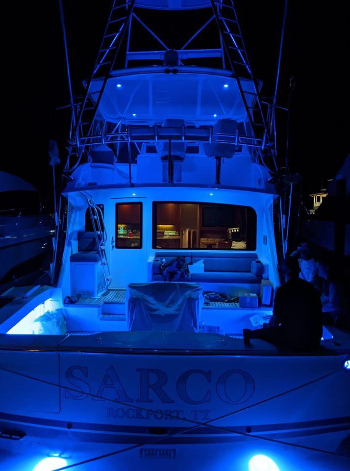 Boat lit up
