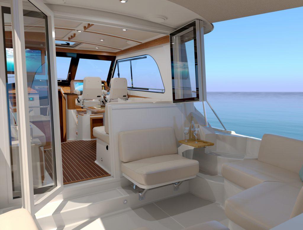Back Cove 372 Aft Seat